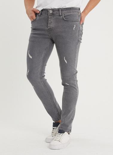 XHAN Taş Rengi Slim Fit Jean Pantolon 1Kxe5-44353-56 Gri
